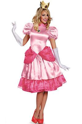 o Brothers Princess Peach Deluxe Adult Costume (Super Mario Peach Kostüm)