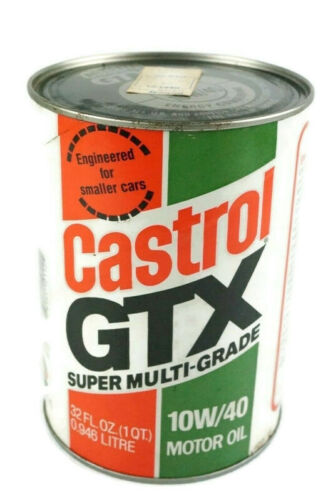 Vintage Castrol GTX Super Multi-Grade 10W-40 1 Quart Can