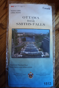 Rideau Canal Small Craft Nautical Chart #1512