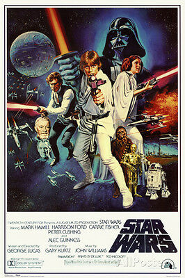 Star Wars Episode IV 4 A New Hope Classic Movie Poster 24x36 Vader Skywalker