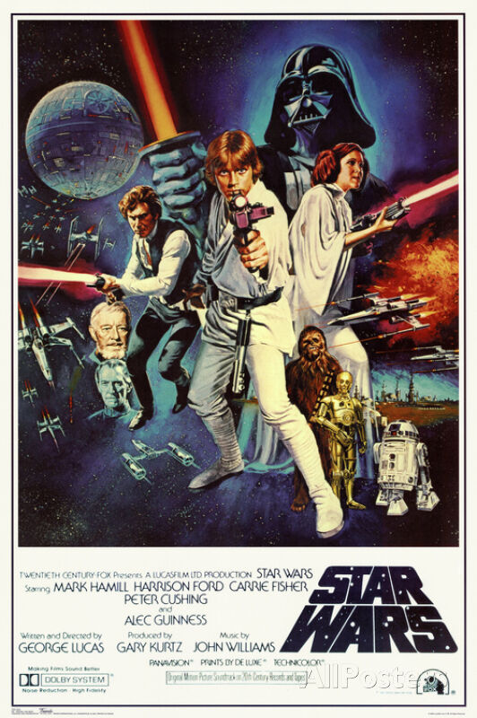 Star Wars Episode IV 4 A New Hope Classic Movie Poster 24x36