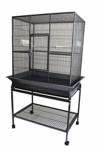 Spacious Flight Cage with Seed Guard for Small Medium Size Bird
