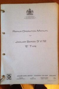 Jaguar Series 3 E type V12 repair manual