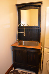 Rustic Utility Laundry/Bar Sink Cabinet