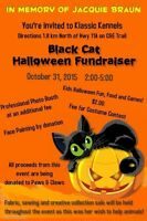 Black Cat Halloween Fundraiser for Paws and Claws Animal Rescue