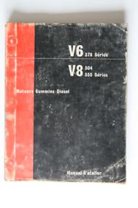 CUMMINS V6 378 Series V8 504 555 Series Manuel d'Atelier 1974