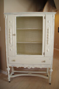 """""""Old White"""" Antique Hutch - Beautiful!"""
