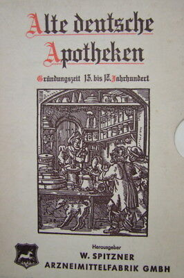 Old German Pharmacy, 5 Booklets IN Slipcase, Gebr Good Condition