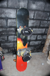 """59"""" snowboard with boots & rossignol bindings SMX boots size 9"""