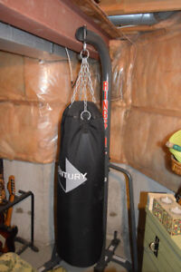century 100lb punching bag with stand