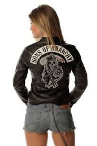 New Son's of Anarchy Ladies Leather coat