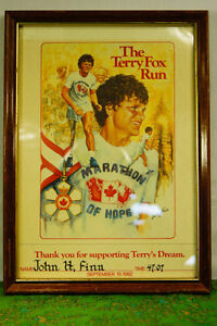 Framed TERRY FOX Certificate - Collectible Terry Fox