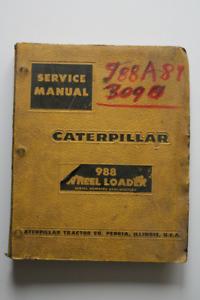 CATERPILLAR 988 Wheel Loader Service Manual