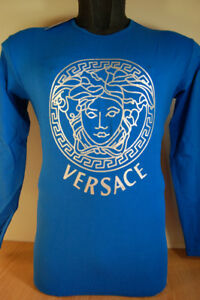 Designer men's long sleeve T-shirts Armani D&G Versace