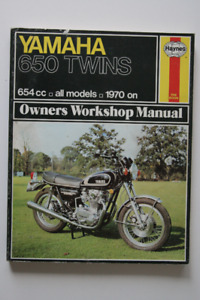 YAMAHA 650 TWINS 1970 Workshop Manual Haynes