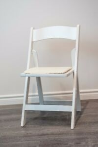 White Wooden Chairs for Rent