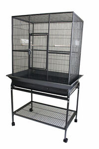 Spacious Flight Cage with Seed Guard for Bird Parrot Pigeon