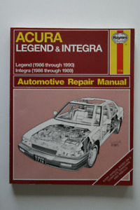 ACURA Legend Integra 1986-1990 Repair Manual Haynes