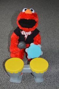 Let's Rock Elmo Toy with Drums Microphone and Tambourine