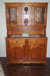 Hardwood Buffet & Hutch