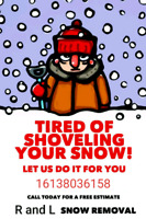 Snow removal ( pay per time or contracts )