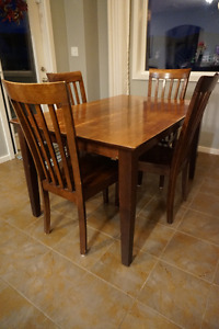 Expandable Wood Dining Room Set
