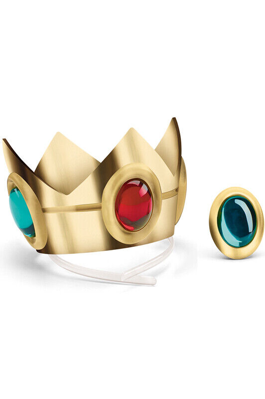 Super Mario Brothers Princess Peach Crown and Amulet Accessory