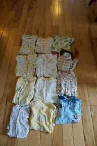 12 sleepers size 3 to 6 months