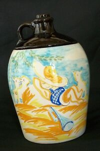 """Canuck Pottery Cookie Jar """" Liitle Boy Blue"""""""