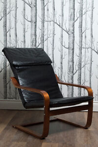 Faux Leather/Wood Chair