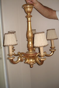 5-light chandeliers and 2 wall fixtures