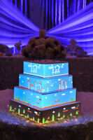 Animated projected wedding cake
