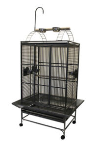 "32""x23"" Large Parrot Cage with Play Top for African Grey Amazon"