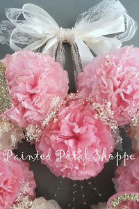 Coffee Filter Princess Monogrammed Baby Girl Wreath/ Nursery Belleville Belleville Area image 2
