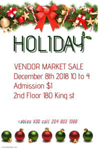 Holiday vendor market and sale