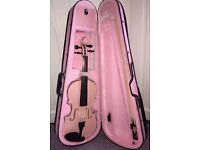 Pink Archetto Violin Size 3/4. GOOD CONDITION.