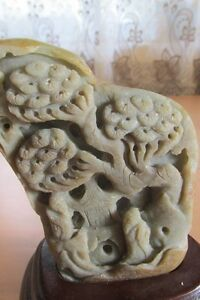 Collectible natural stone carving by hand landscaping