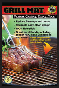 New Set of 2 BBQ Non-Stick Reusable Grill Mats in Box  - $8 both