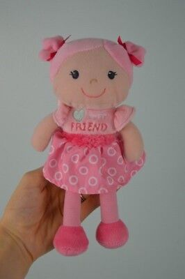 Garanimals My Best Friend Pink Doll Baby Soft Toy Stuffed Plush Circles