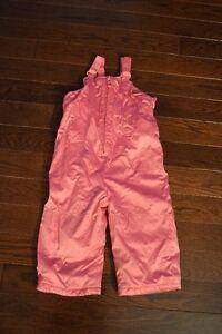 Pink Snow Pants - Size 2 - Snow Suit