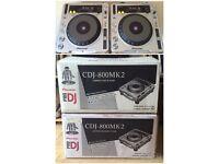 2x Pioneer CDJs mk2