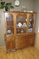 French Provincial China Cabinet made by Knechtel