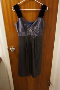 Grey Vera Wang Holiday Cocktail Dress - NEW WITH TAGS Size 6