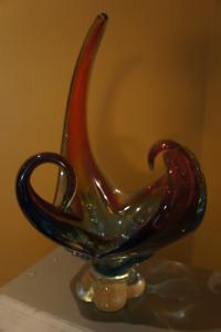 Vintage Glass Art Center Piece