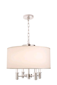 DuPont 4 Light 20 Inch Round Pendant Light Fixture For Sale