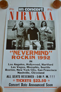 Affiche NIRVANA - tournée USA 1992