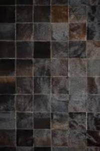 Patchwork COWHIDE Brown/Dark Brown RUG!