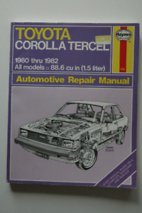 TOYOTA Corolla Tercel 1980-1982 Repair Manual Haynes