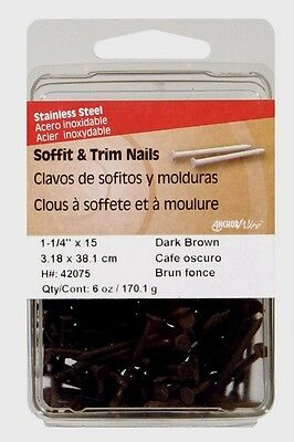 Hillman Flat 1.25 L Soffit Trim Nail Smooth Stainless Steel 15g Brown 42075
