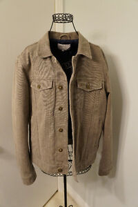 Mens Canvas Denim Jacket Large
